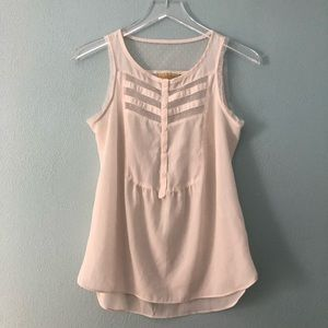 🌸 Princess Vera Wang | ivory sleeveless blouse